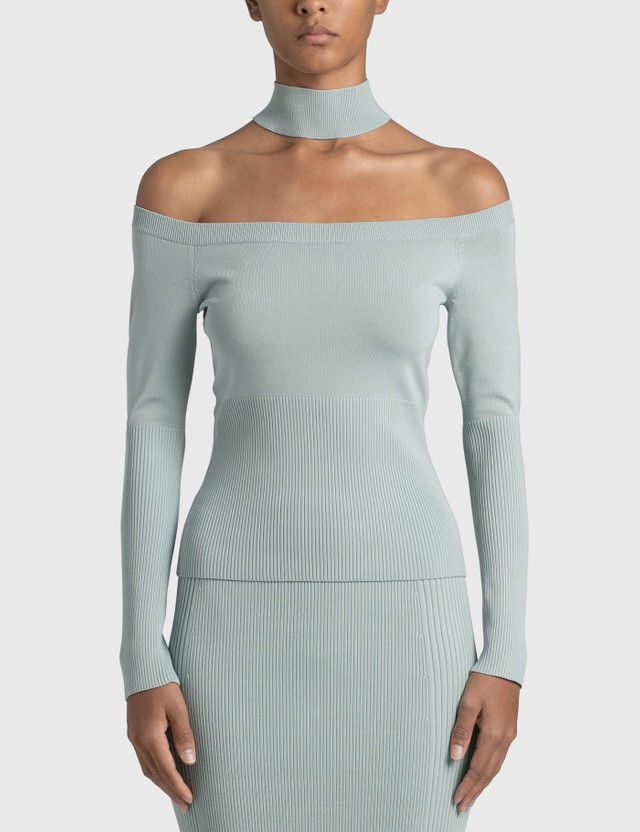 Jonathan Simkhai Lila Cold Shoulder Pullover Blue Women