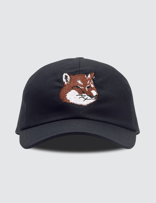 Maison Kitsune Large Fox Head Embroidery Cap