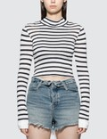 Alexander Wang.T Cropped Slub Mock Neck T-shirt Picture