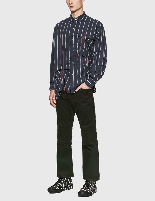 JieDa Hand Stitch Stripe Shirt