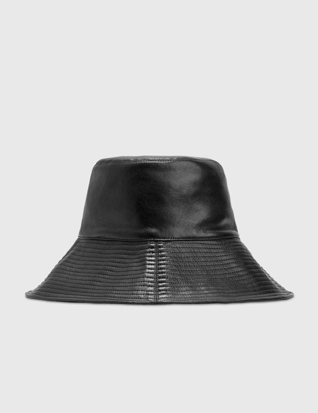 Nanushka Serge Leather Sunhat Black Women