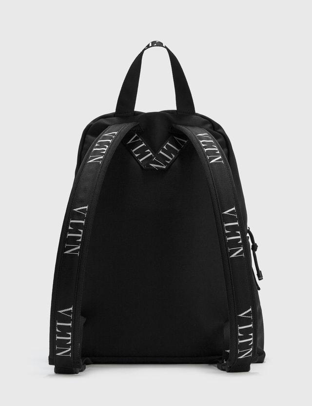 Valentino Valentino Garavani VLTN Nylon Backpack Nero/bianco/nero-bianco Men