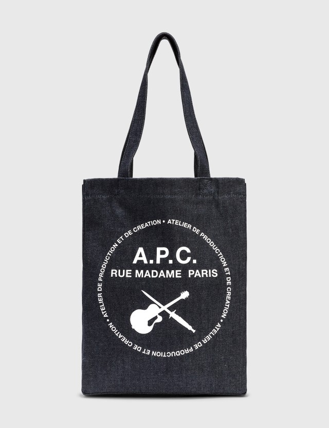 A.P.C. Guitare Poignard Tote Bag Iai Indigo Women