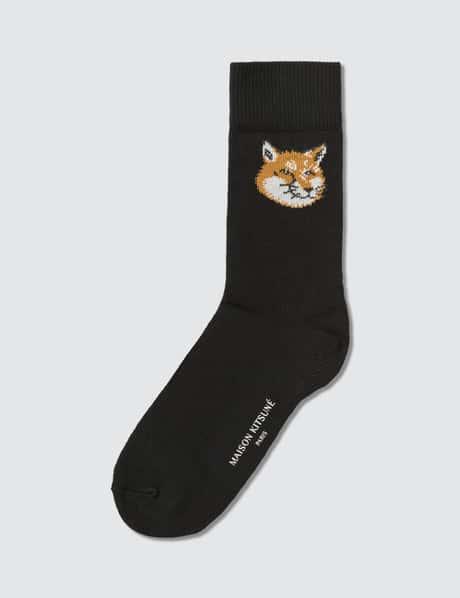 메종 키츠네 양말 Maison Kitsune Fox Head Socks