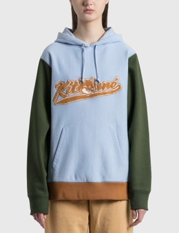 Maison Kitsune Varsity Fox Colorblock Regular Hoodie