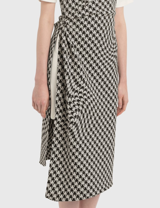 Off-White Houndstooth Slip Dress