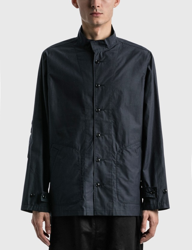 Meanswhile Iridescent Rip Fatigue Shirt Navy Men