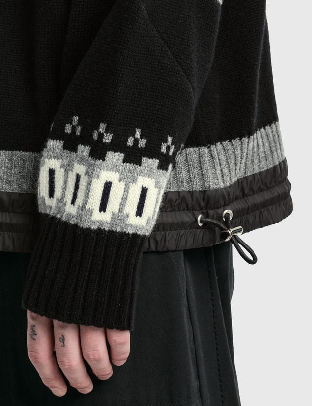 Sacai Wool Knit Pullover Black Men