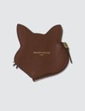 Maison Kitsune Leather Fox Head Coin Purse
