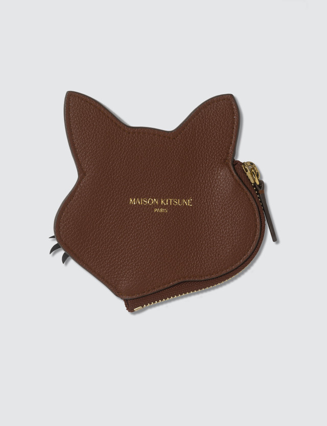 Maison Kitsune Leather Fox Head Coin Purse