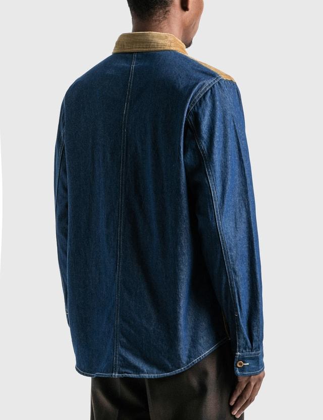 Stussy Corduroy Denim Mix Shirt Khaki Men