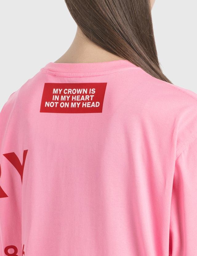 Burberry Horseferry Print Cotton Oversized T-Shirt Bubblegum Pink Women