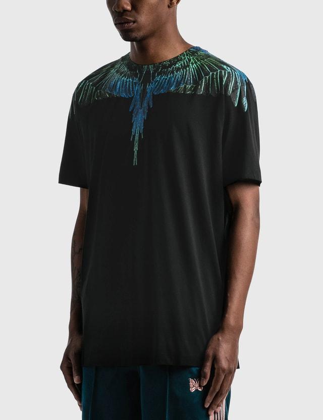 Marcelo Burlon Wings T-shirt Black Blue Men