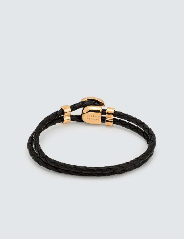 Versace Medusa Leather Bracelet