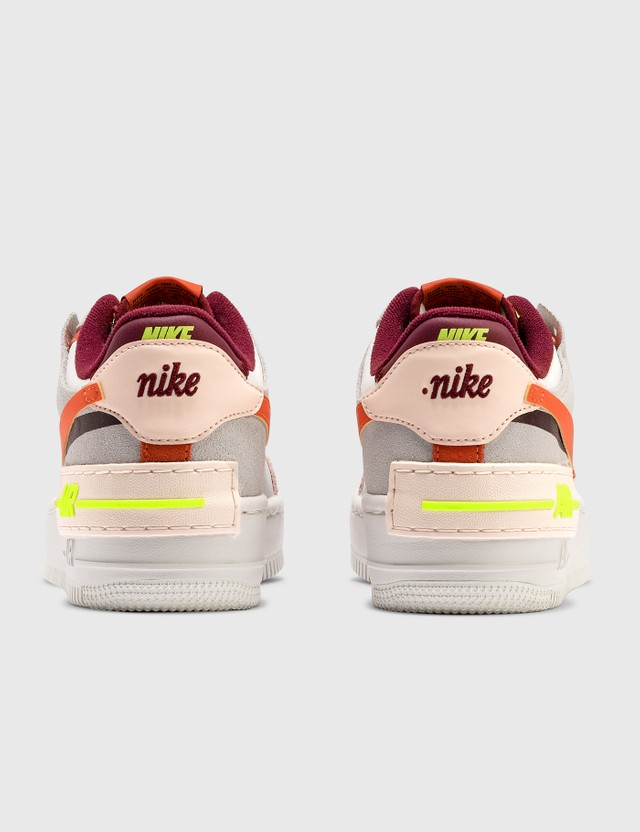Nike Air Force 1 Shadow Team Red/orange-orange Pearl-volt Women