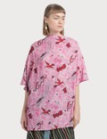 Loewe Paula Birds Scarf Top Red/pink Women