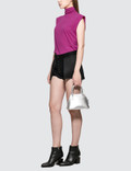 Unravel Project Jersey Mock Tank Fuchsia Women