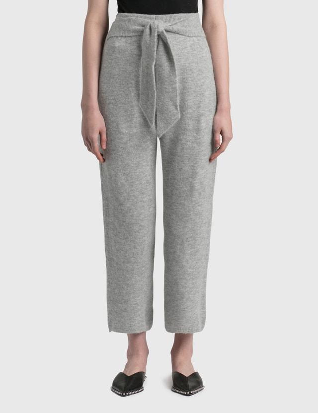 Nanushka Nea Fluffy Knit Pants Heather Grey Women