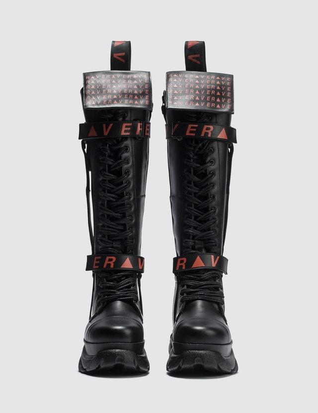 Buffalo London Buffalo X Patrick Mohr Rave High Boots Black/red Women