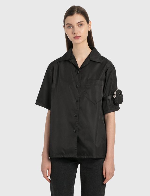 Prada Re-nylon Gabardine Shirt Nero Women