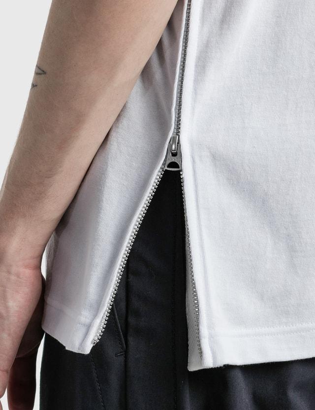 Sacai Side Zip Cotton T-shirt White Men
