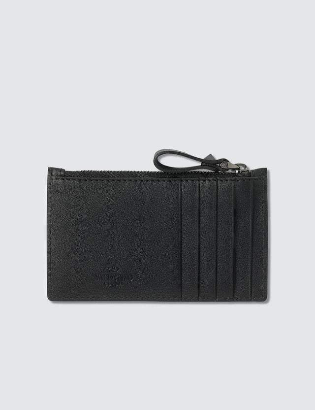 Valentino Valentino Rockstud Zip Cardholder