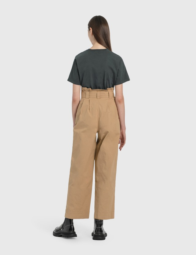Ganni Ripstop Cotton Chino Tannin Women