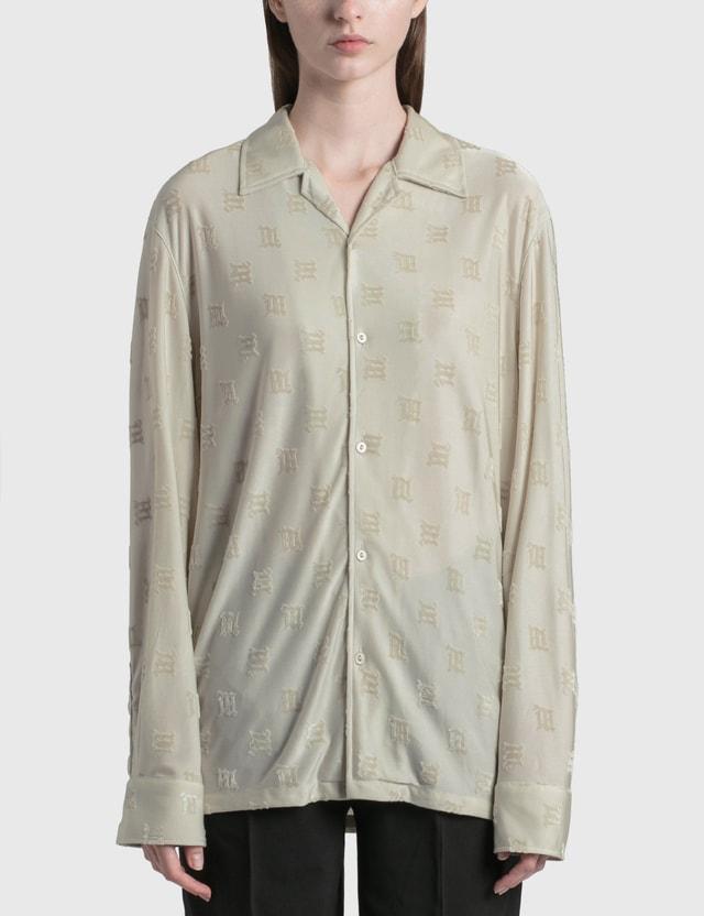Misbhv Velour Monogram Slip Shirt Stone Women