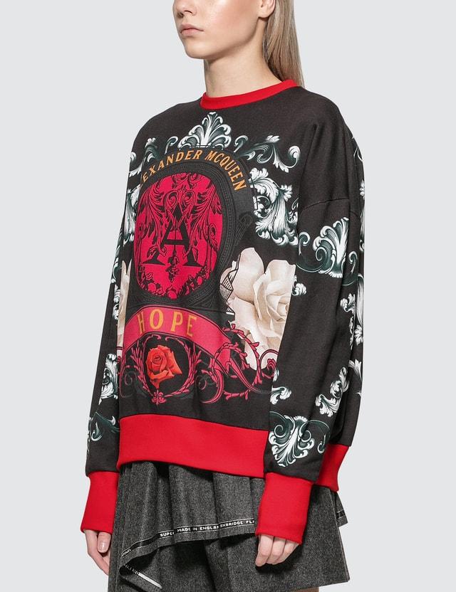 Alexander McQueen Floral Baroque Print Sweatshirt
