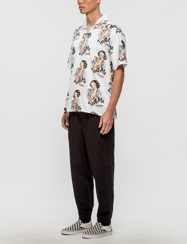 Nothing Text Me All Over Print S/S Shirt