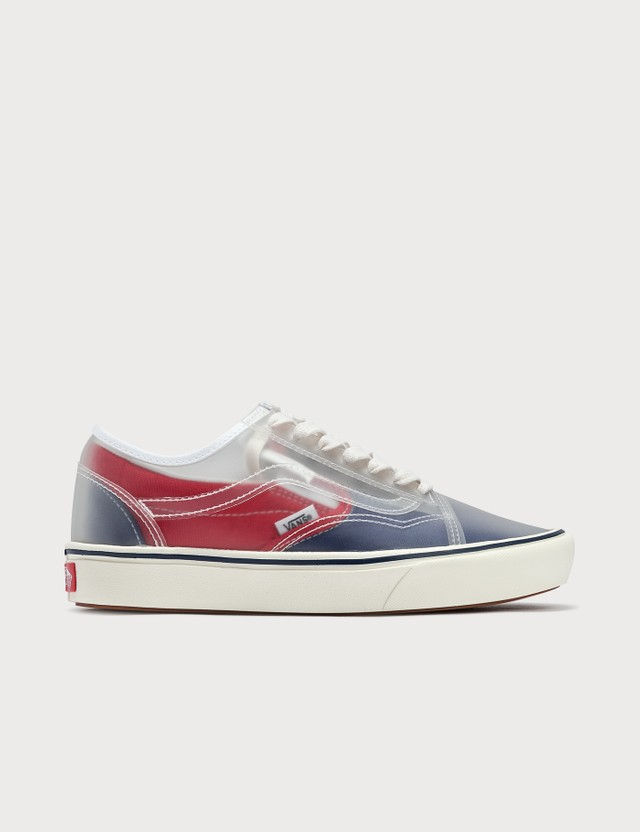Vans Comfycush Slip-Skool (canvas) True Navy/red Women