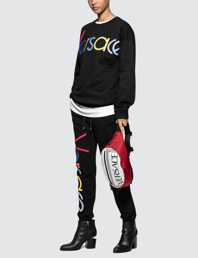 Versace Rainbow Color Logo Sweatshirt