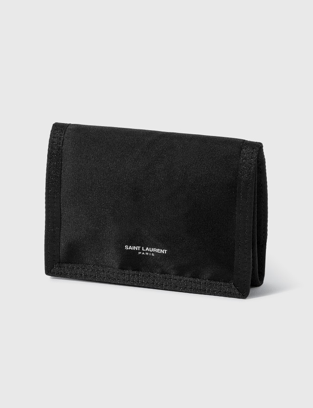 Saint Laurent Nylon Wallet Nero/nero Men