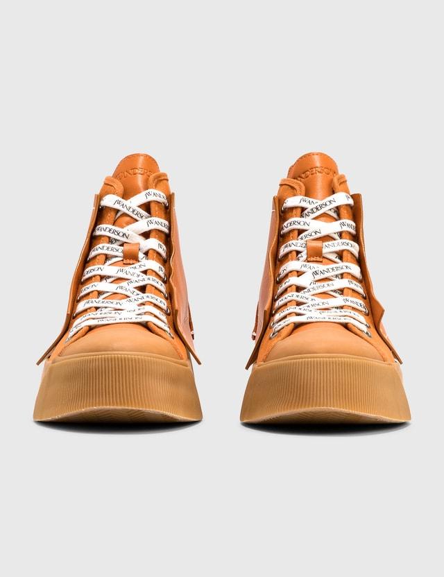 JW Anderson Logo High Top Sneaker Orange Women