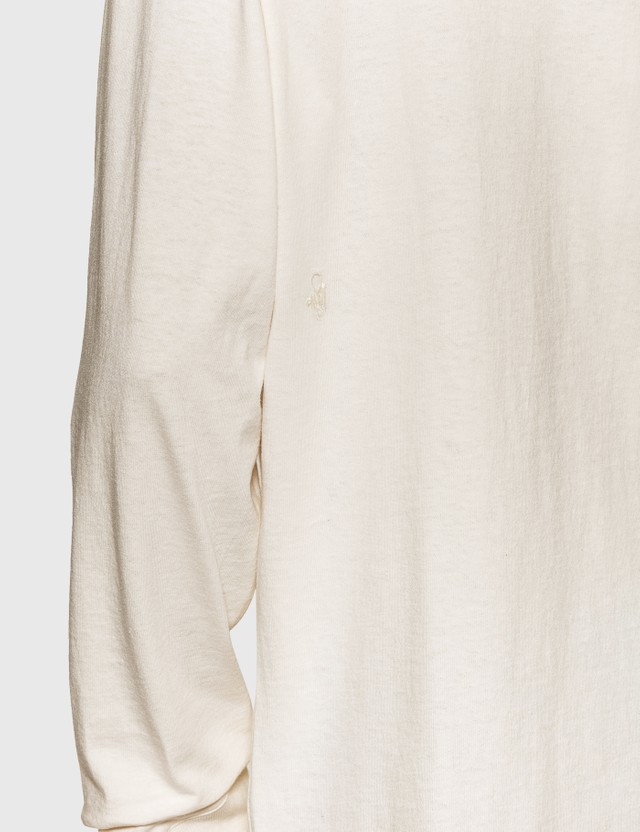 Bottega Veneta 선라이즈 코튼 긴팔 티셔츠 9068-chalk Men