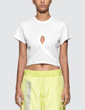 Alexander Wang.T High Twist Jersey Croppedtee With Keyhole Picutre