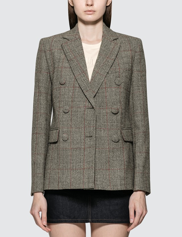 Helmut Lang Double Breasted Blazer Charcoal Women