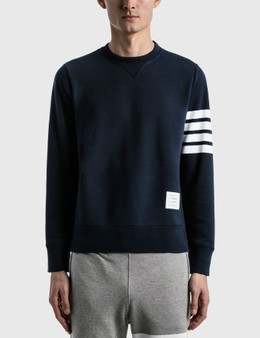 Thom Browne 4-Bar Classic Crewneck Sweatshirt