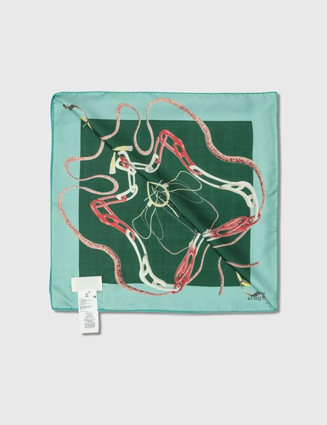 Maison Margiela Printed Silk Twill Scarf