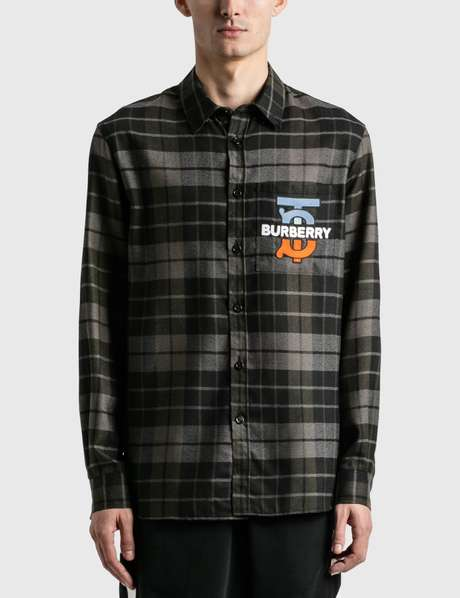 버버리 Burberry TB Monogram Check Shirt