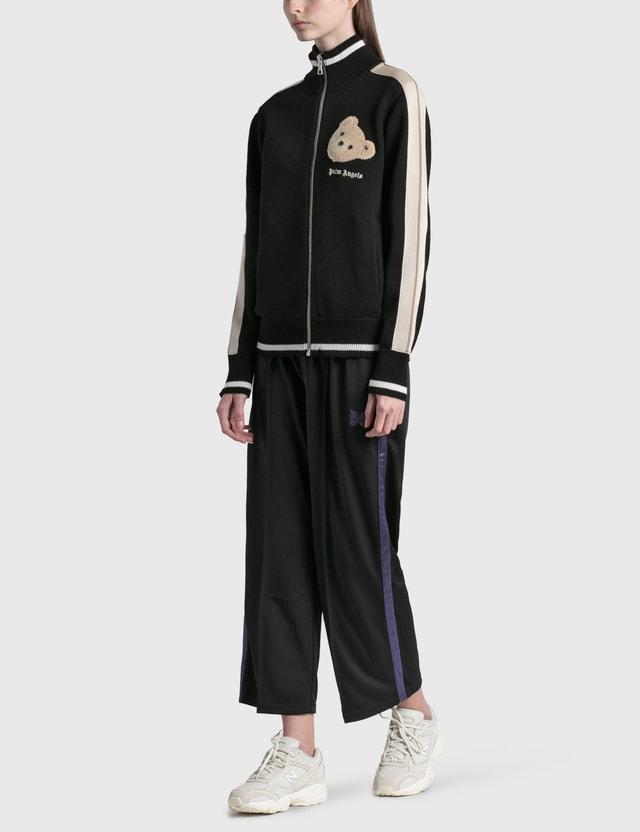 Palm Angels Bear Head Knit Track Jacket Black Women