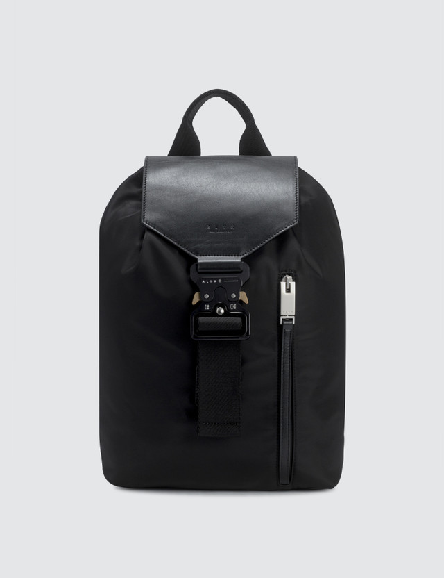 1017 ALYX 9SM Tank Backpack with Leather Flap