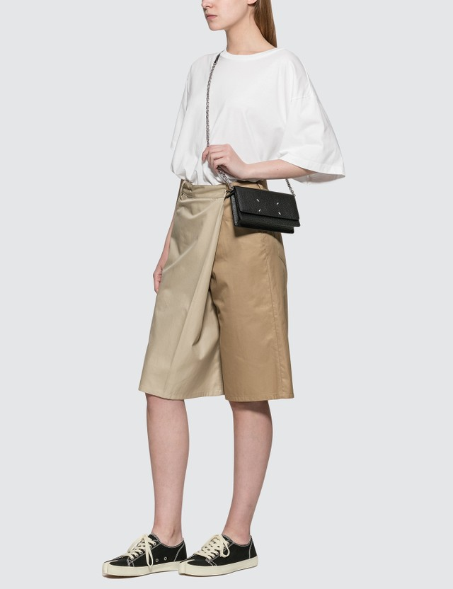 MM6 Maison Margiela Two-tone Overlay Twill Bermuda Shorts