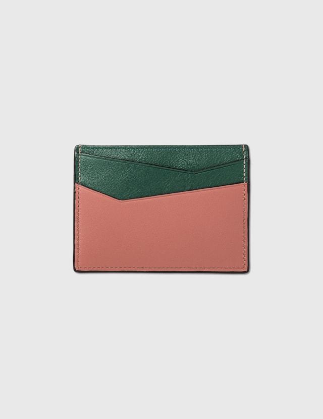 Loewe Puzzle Plain Cardholder Mint/multicolor Women