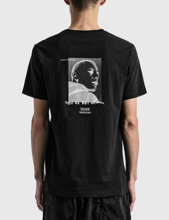 Tobias Birk Nielsen Portrait Serigraphy Print T-shirt Black Rd Men