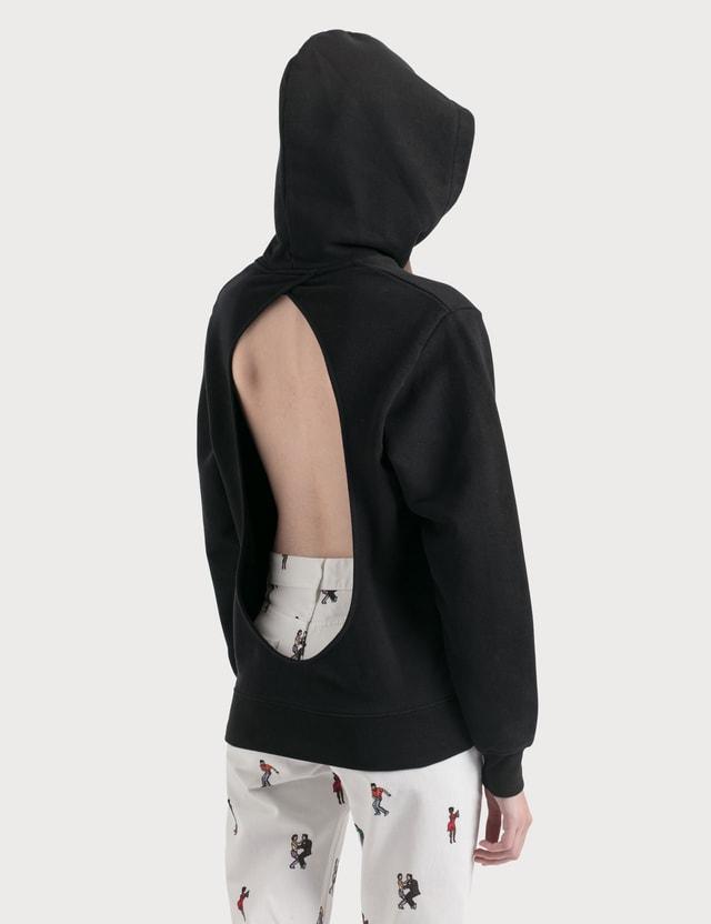 Kirin Kirin Open Back Hoodie Black Silve Women