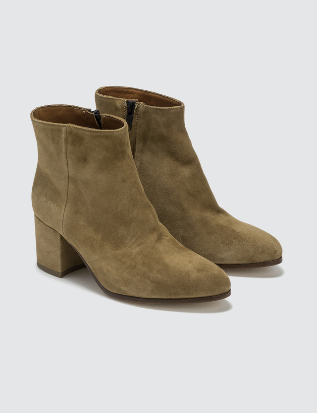 Common Projects Suede Zip Ankle Boots