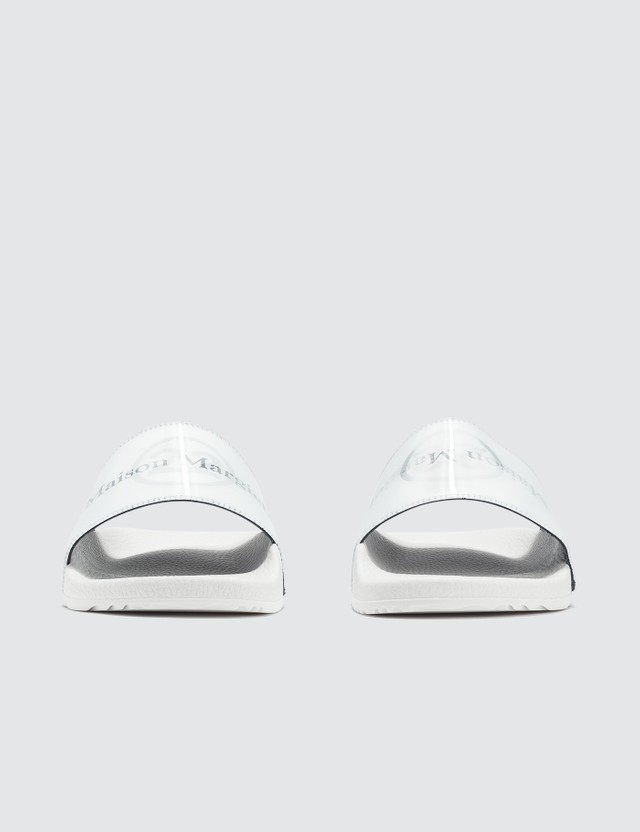Maison Margiela Holographic Effect Logo Print Sliders