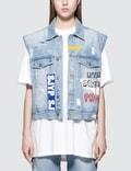 SJYP Graphic Painted Denim Vest Jacket Picture