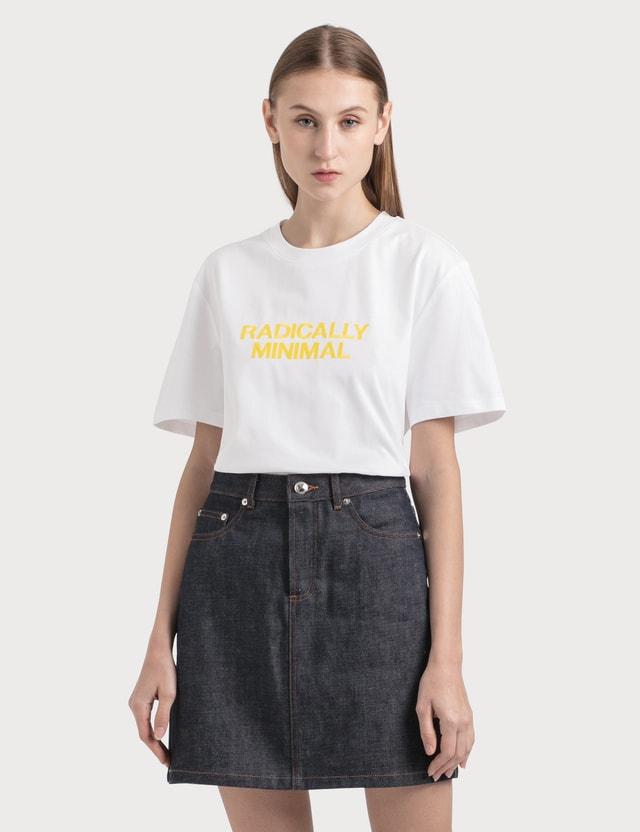 A.P.C. Radically Minimal T-Shirt Blanc Women